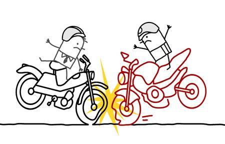 दुई मोटरसाइलक एकापसमा ठोक्किँदा दवै चालकको मृत्यु !