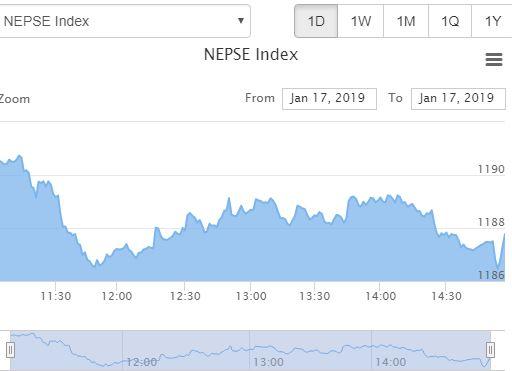 शेयर बजार शून्य दशमलव २ अंकले घट्यो