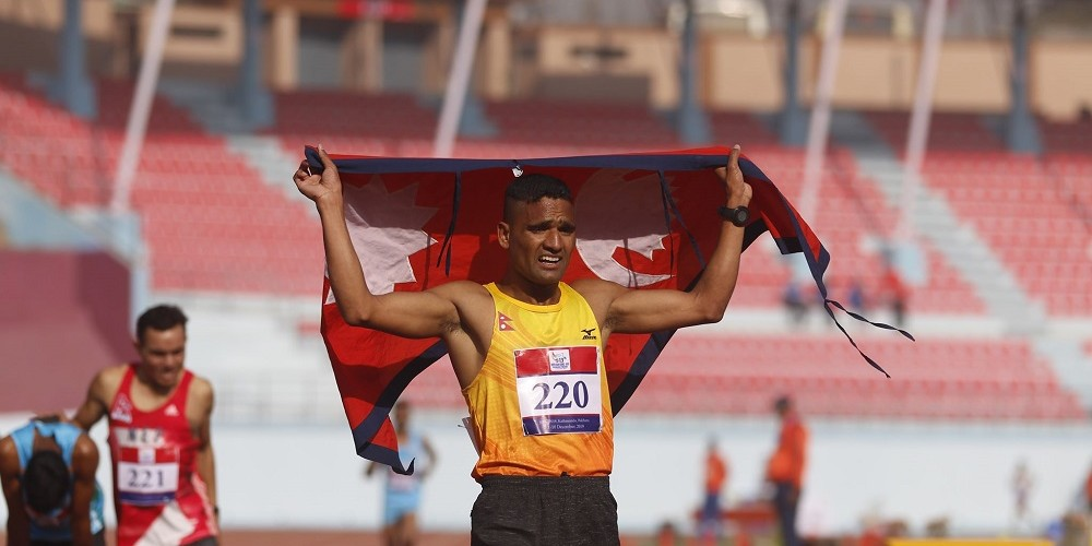 एथ्लेटिक्सतर्फको ५ हजार मिटरमा नेपालका गोपीलाई स्वर्ण पदक