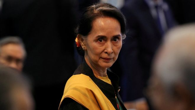 म्यानमारकी नेतृ आङ साङ सुची हेगमा उपस्थित