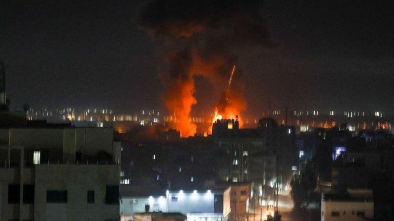 इजरायलले गर्यो गाजामा हवाई हमला