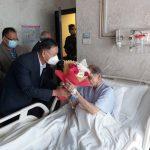 मोहन बैद्यको स्वास्थ्य अवस्था बुझ्न उपराष्ट्रपति पुगे नर्भिक अस्पताल !